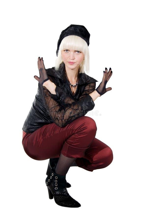 Posing beautiful blonde girl stock photography