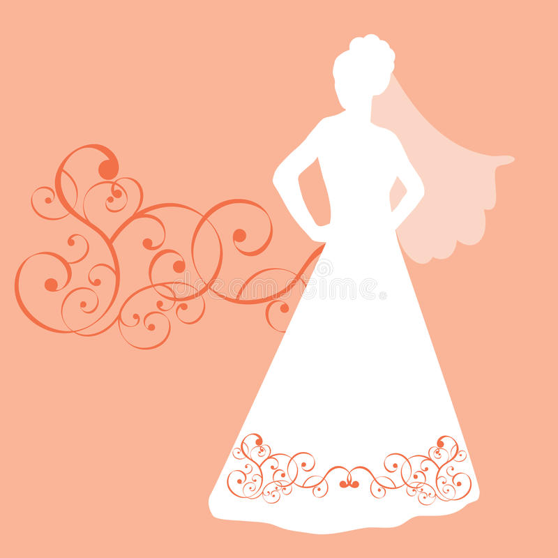 Download Posing Bride stock vector. Image of classy, elegance, couture - 9667265