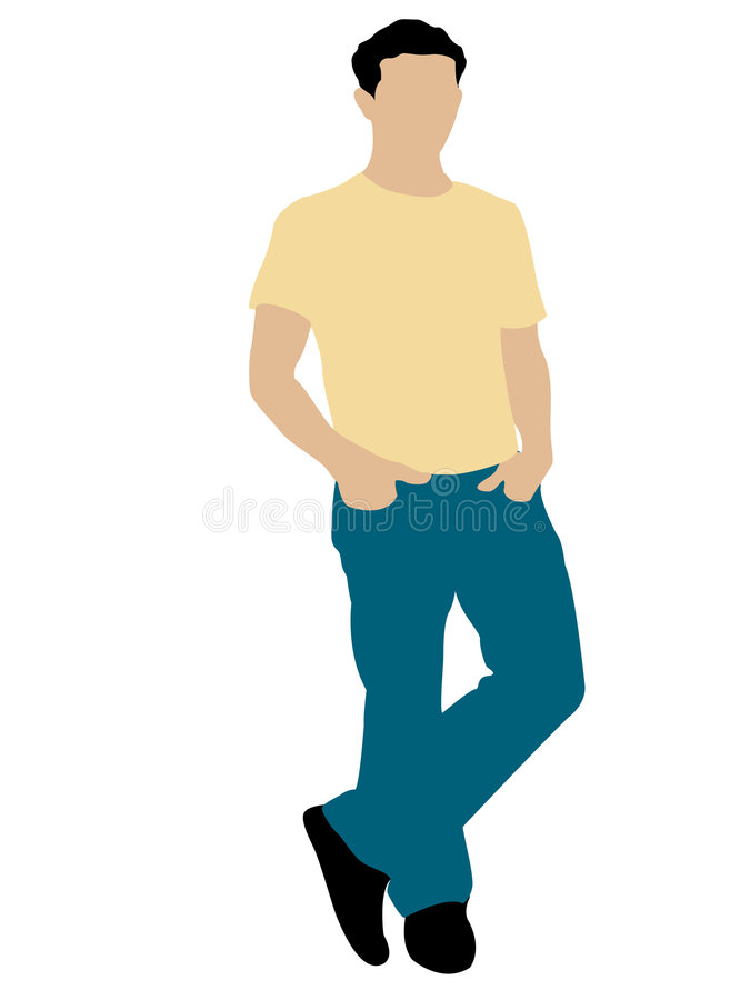 Posing cool man. On isolated background royalty free illustration