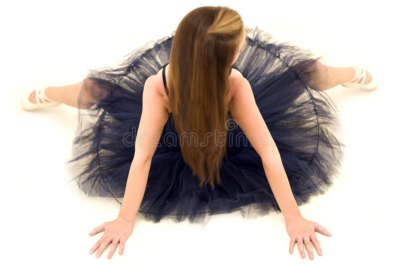 Posing dancer viewed from above stock photos