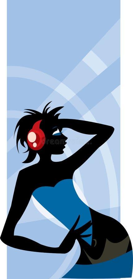 Download Posing girl stock vector. Illustration of elegancy, blue - 6029452