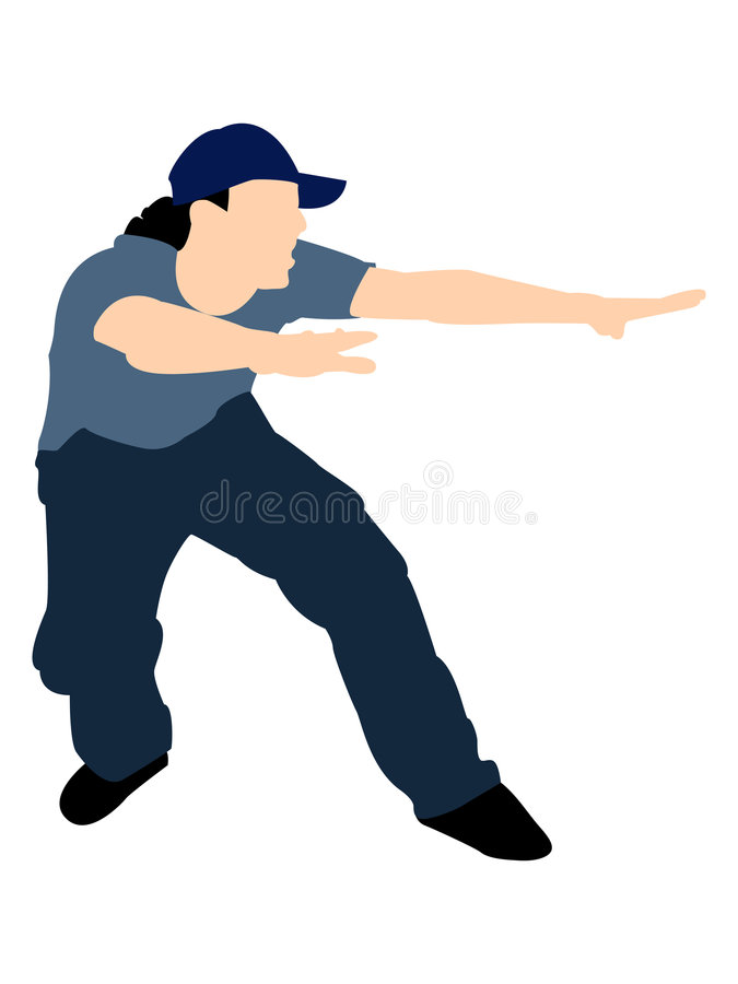 Download Posing male stock illustration. Image of freestyle, cool - 7525677