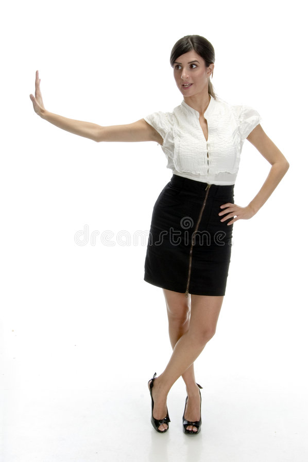 Posing sexy woman