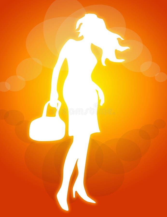 Download Posing woman illustration stock illustration. Illustration of brave - 4171249