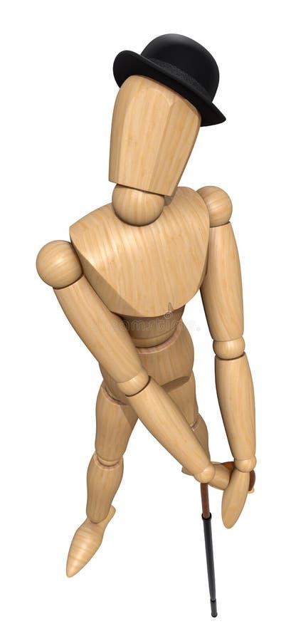 Download Posing wooden manikin stock illustration. Image of single - 16256012