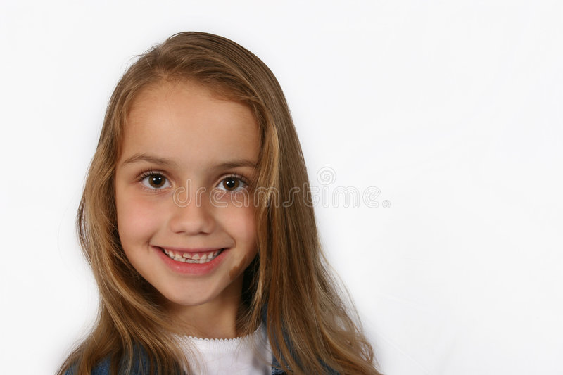 Posing young girl stock photo