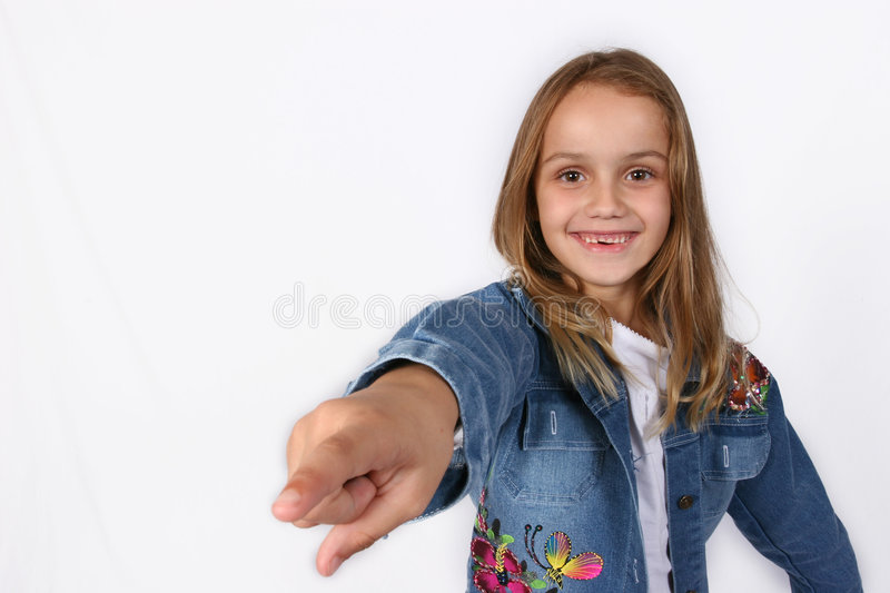 Posing young girl stock photography