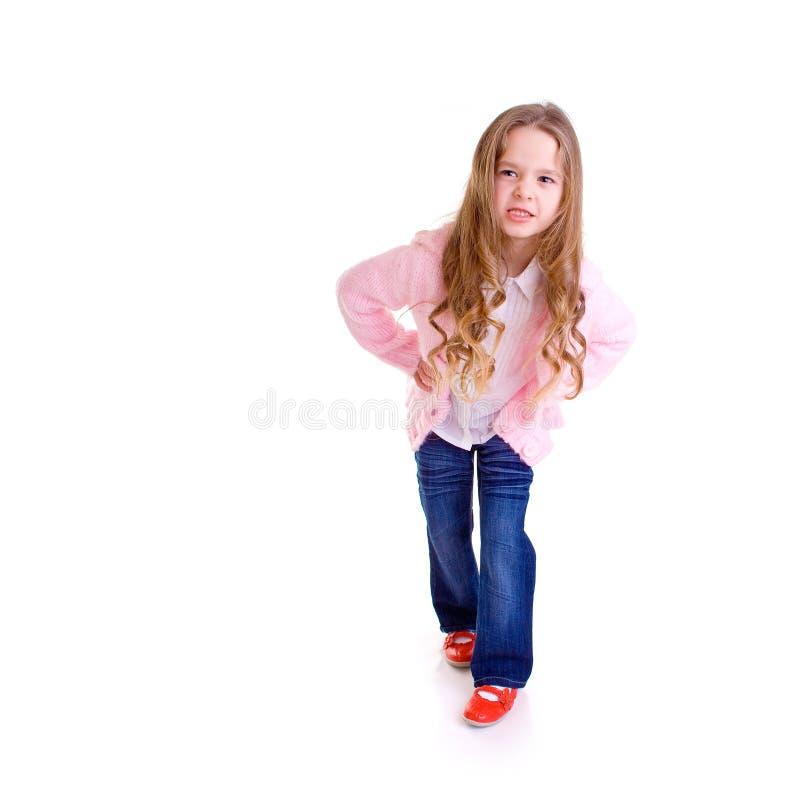 Posing young girl royalty free stock photos