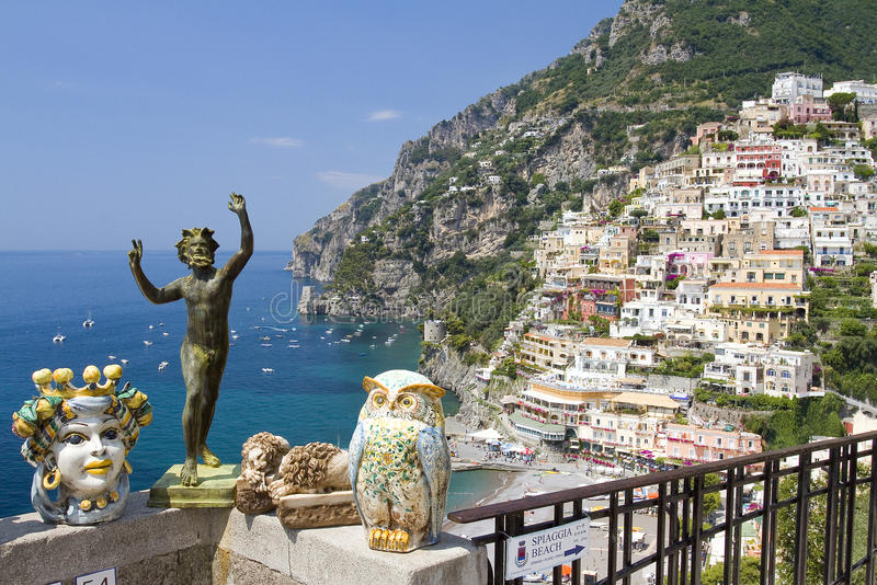 Positano, Ιταλία στοκ φωτογραφίες