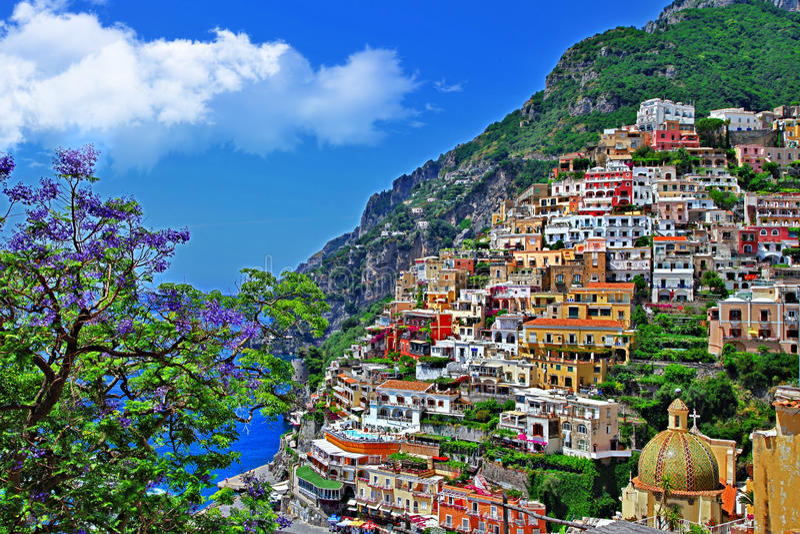 Positano, Италия стоковые фотографии rf