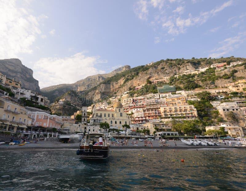 positano Италии пляжа стоковые изображения rf