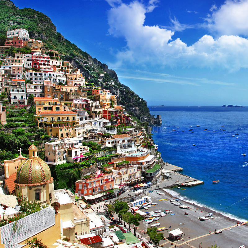 Download Positano stock photo. Image of destination, beach, idyllic - 26160800