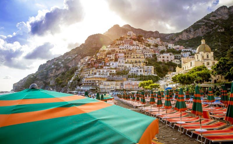 Positano amalfi wybrzeża Włochy fotografia stock