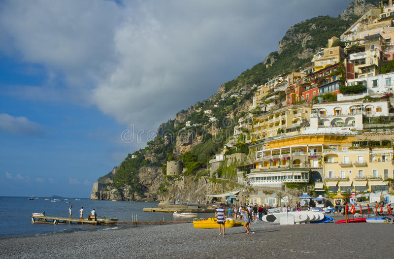 Download Positano, Beach View, Amalfi Coast,  Italy Editorial Image - Image: 27396800