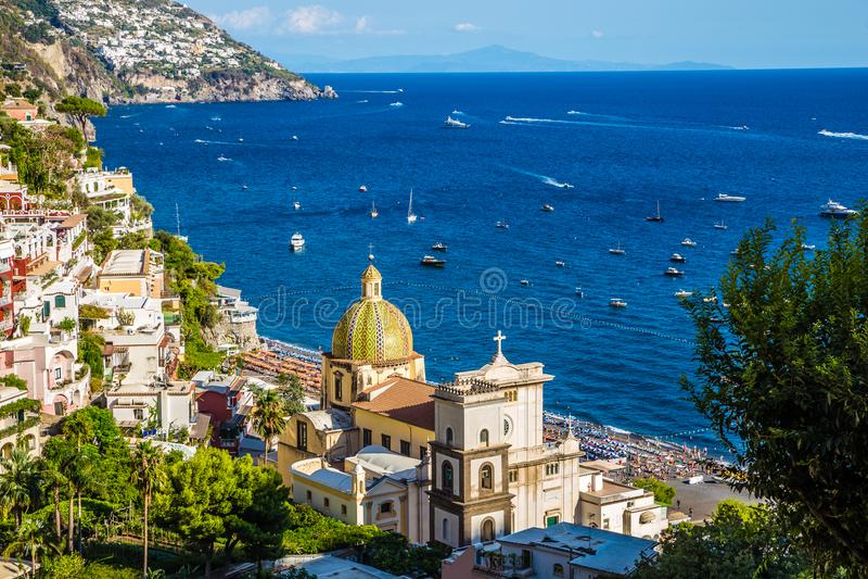 Positano - côte d'Amalfi, Salerno, Campanie, Italie photo libre de droits