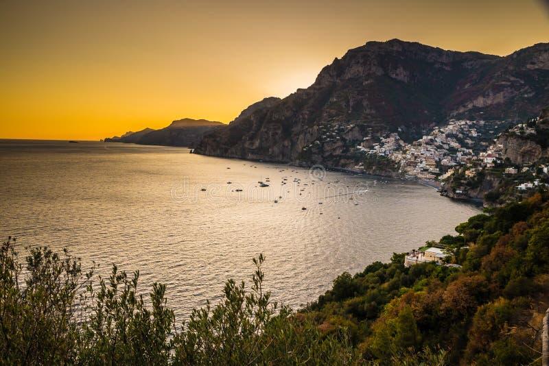 Positano - côte d'Amalfi, Salerno, Campanie, Italie photographie stock