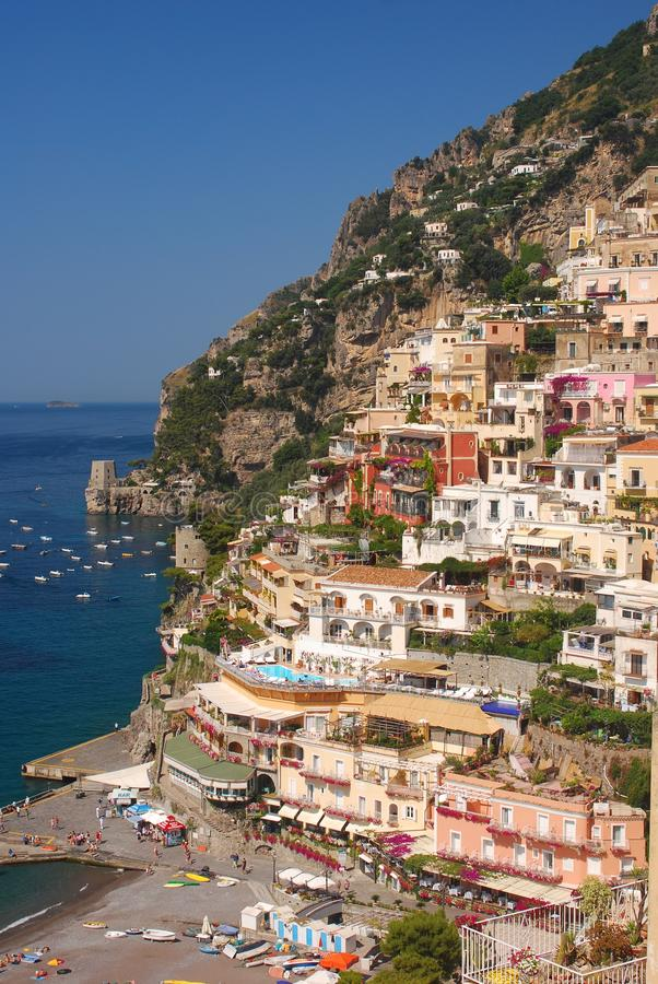 Positano Cliffside photos libres de droits