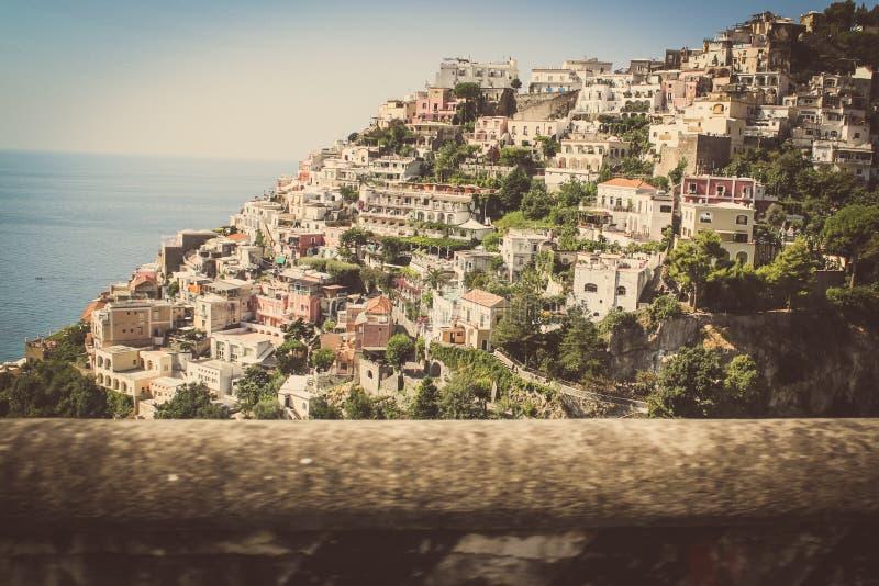 Positano e la costa Italia di Amalfi fotografie stock libere da diritti