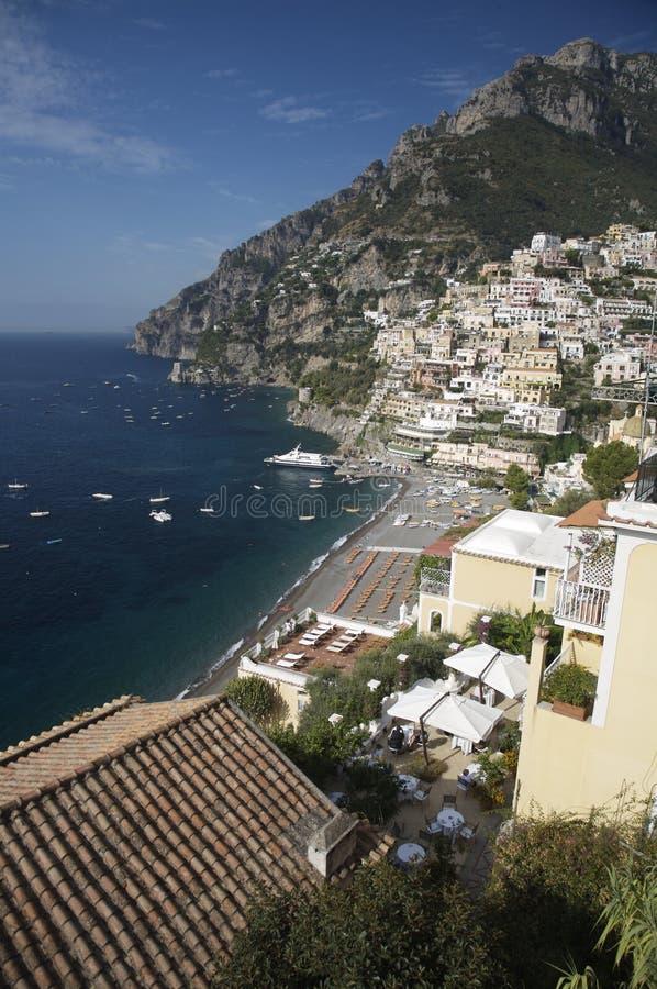 Positano en la costa de Amalfi, Italia imágenes de archivo libres de regalías