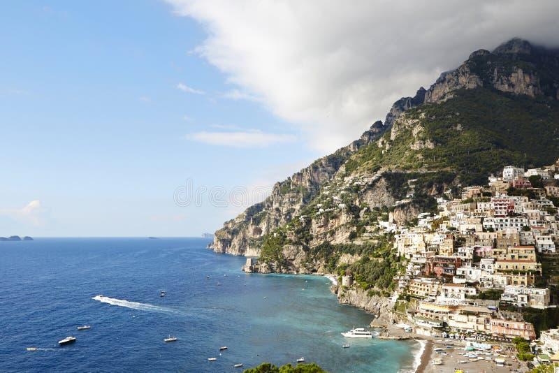 Positano i wybrzeże Amalfi obraz royalty free