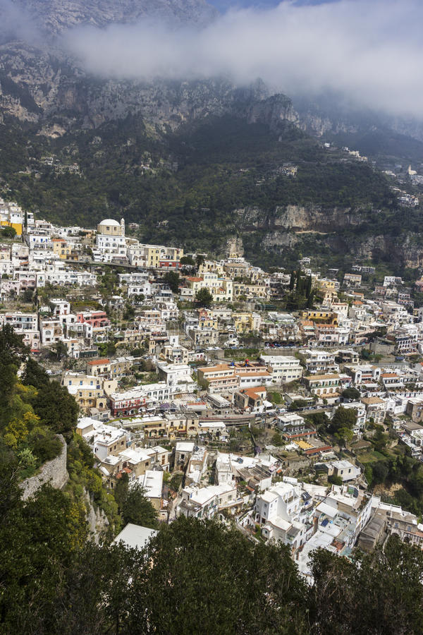 Positano in Italië stock foto