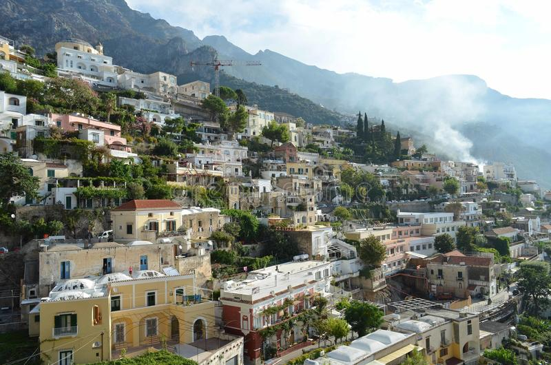 Positano italienare Riviera royaltyfri foto