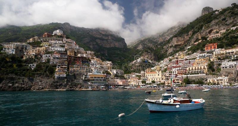 Positano on the Mediterranean Sea stock photography