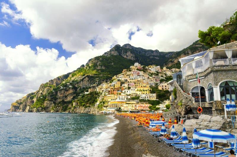 Positano na costa de Amalfi, Itália fotos de stock