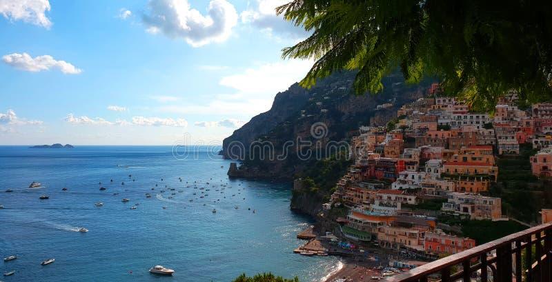 Positano na costa de Amalfi de Italy fotografia de stock royalty free