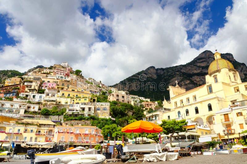 Positano op Amalfi kust, campania, Italië royalty-vrije stock foto's
