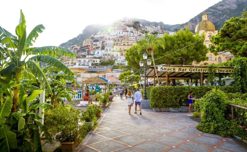 Positano stad i Italien royaltyfri bild