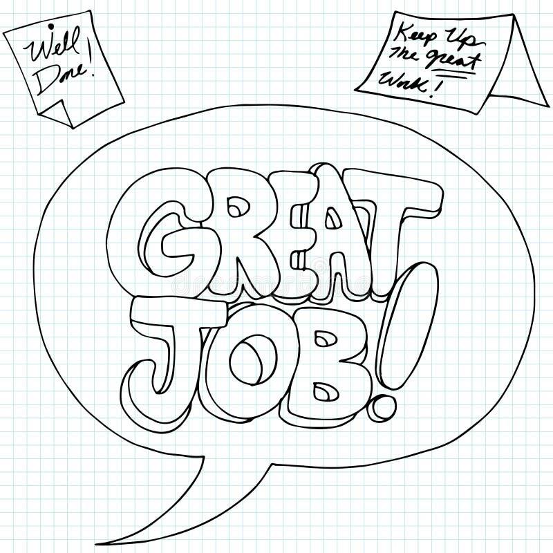 Positief Job Reinforcement Messages royalty-vrije illustratie