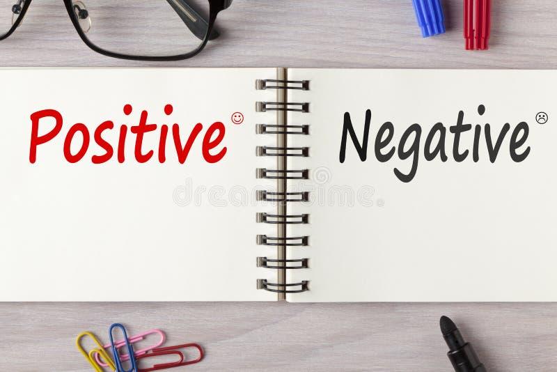Positief of Negatief Concept stock foto's