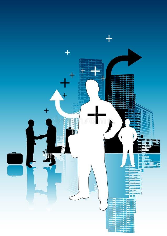 Positieve BedrijfsMensen vector illustratie