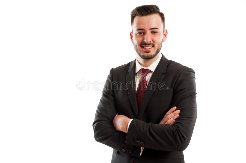 Positieve en zekere manager royalty-vrije stock fotografie