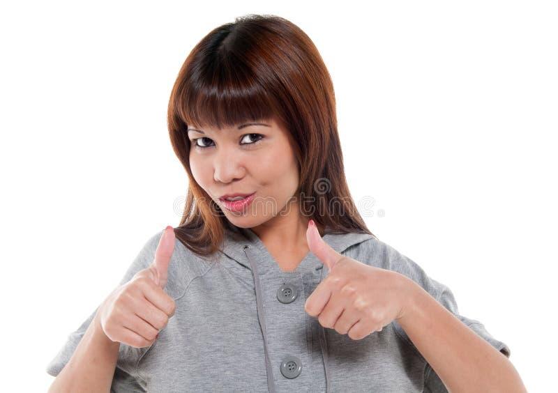 Positieve vrouw stock afbeelding