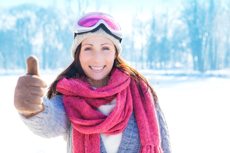 Positieve wintersporten royalty-vrije stock fotografie