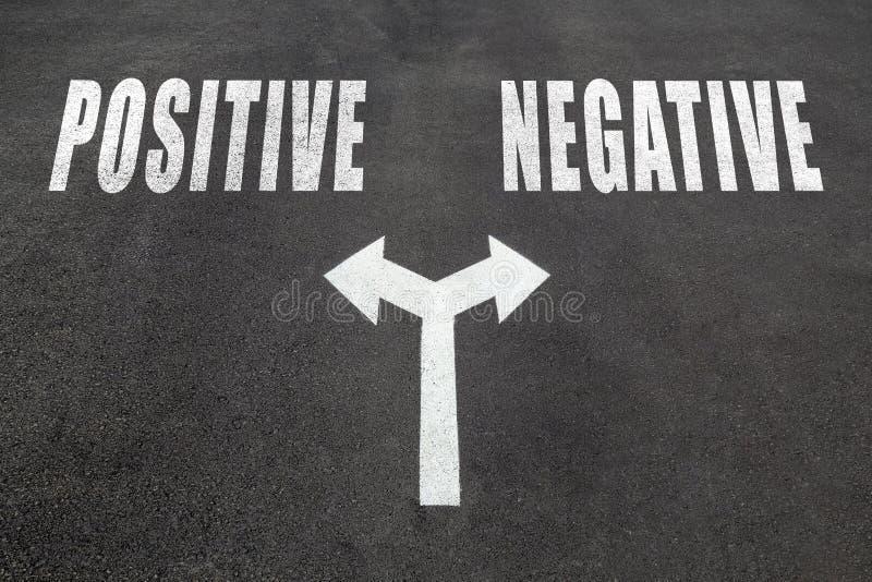 Positif contre le concept bien choisi négatif photos libres de droits