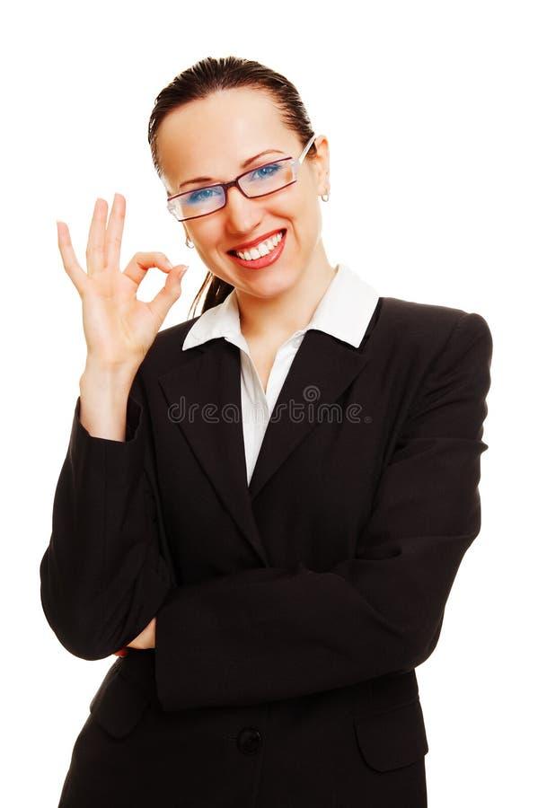 positif de femme d'affaires photos stock