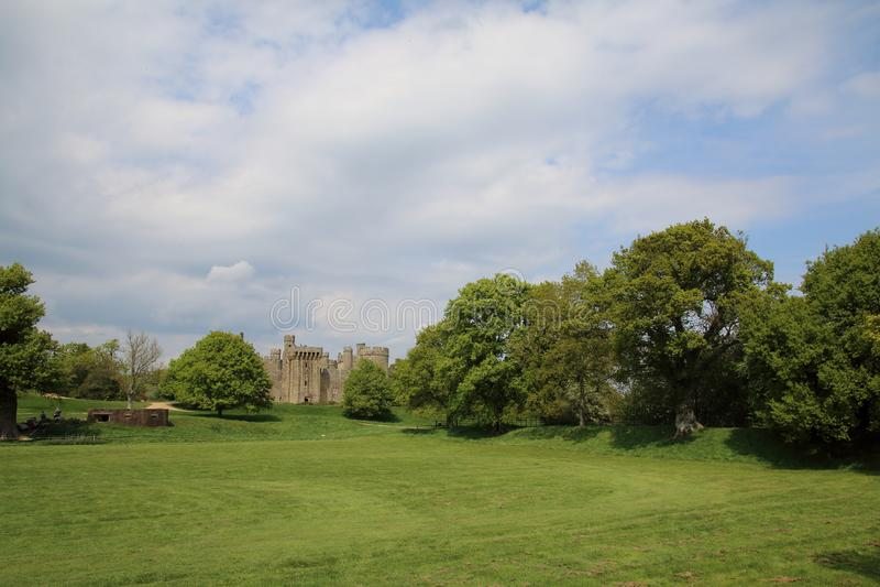 Position anglaise de campagne de château de Bodium images libres de droits