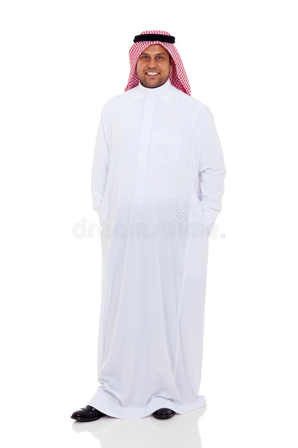 Position arabe d'homme photographie stock