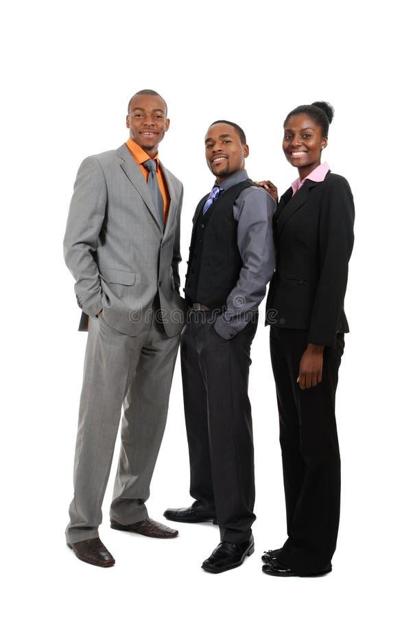 Position d'équipe d'affaires d'Afro-américain photo libre de droits