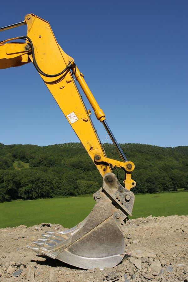 Position d'excavatrice photographie stock