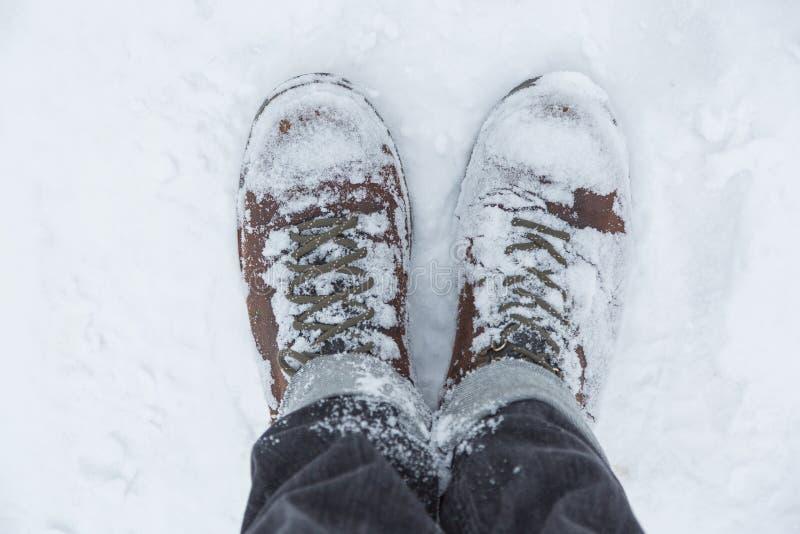 Position dans la neige photo stock