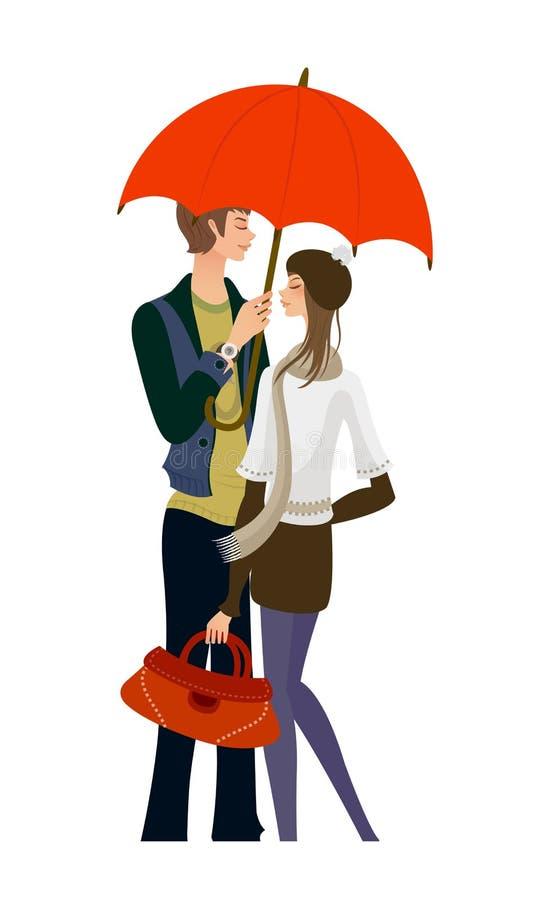 Position de couples illustration de vecteur