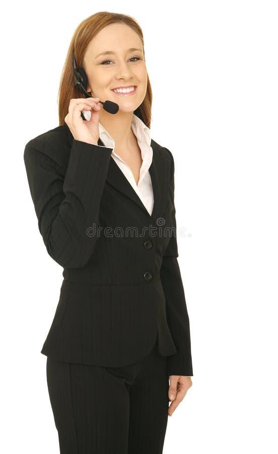Position de femme de service à la clientèle photographie stock libre de droits