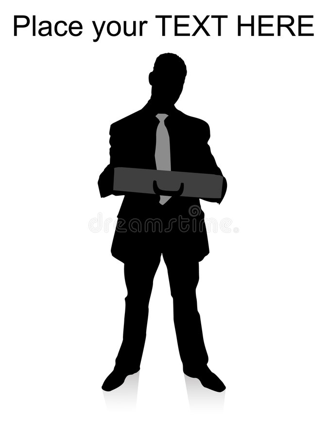 position de fixation d'homme d'affaires de serviette illustration stock