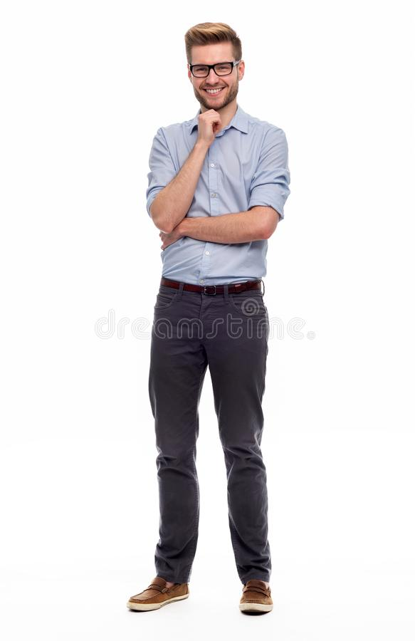 Position de jeune homme photo stock