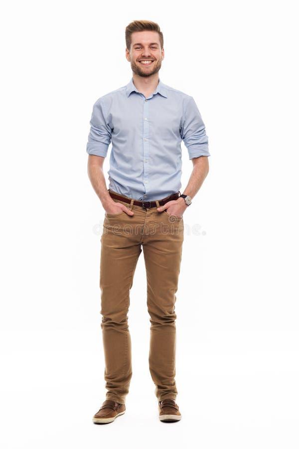 Position de jeune homme photographie stock