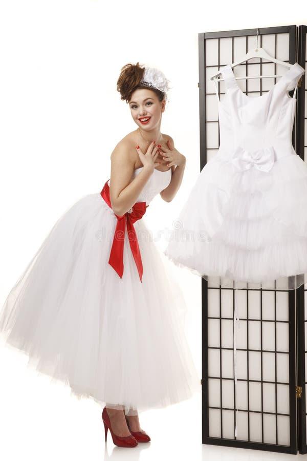 Position de la jeune mariée Pin- images libres de droits